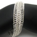 chainmaille bracelet silver 8in1