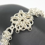 celtic star chainmaille jewelry bracelet