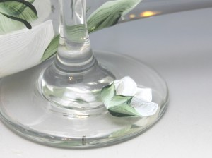 custom wedding toasting glass set