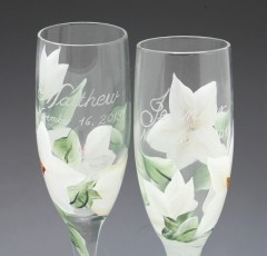 wedding toasting glass custom