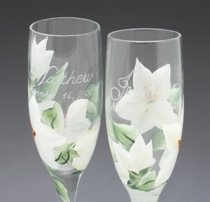 wedding toasting glass custom
