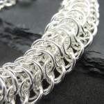 persian dragon scale chainmaille bracelet