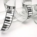 music piano hand painted glass
