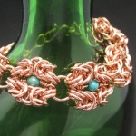 Romanov chainmaille necklace copper