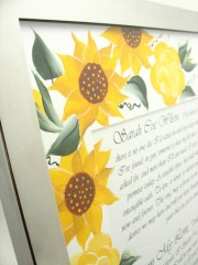 Vows Rose and sunflower top corner
