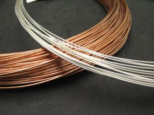 Wire coils close up