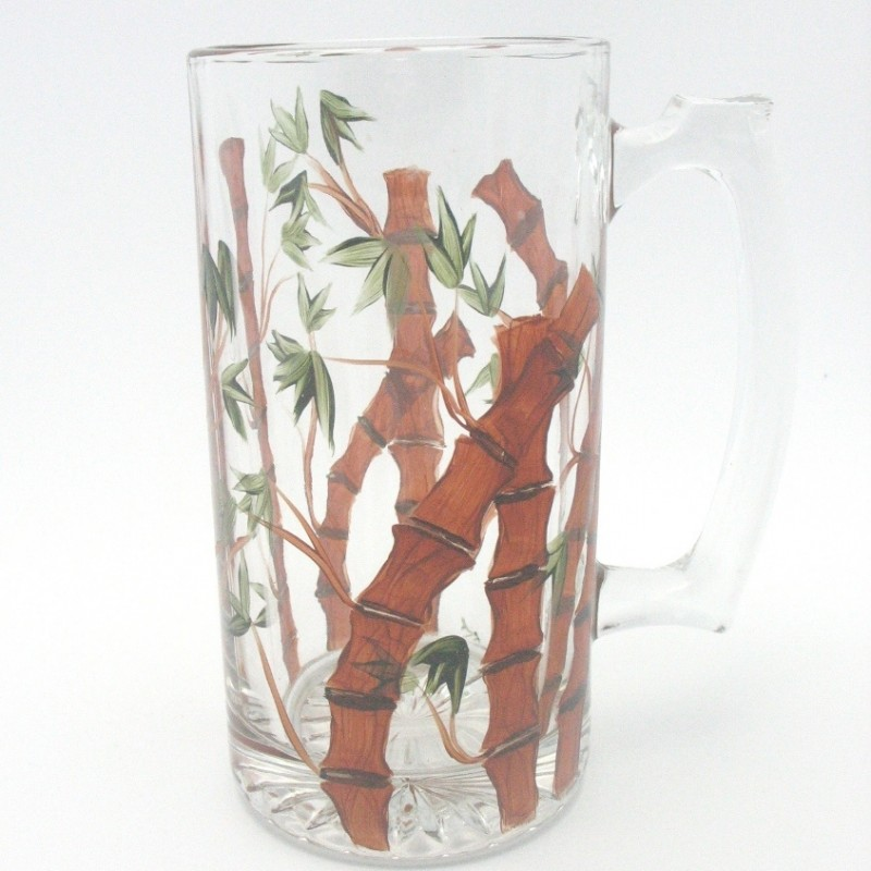 large Mug hand painted Bamboo