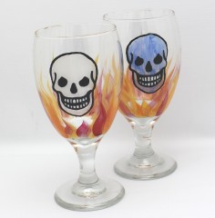 Water skull pair
