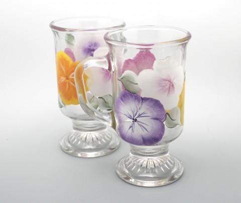 hand painted irish coffee mug hibiscus
