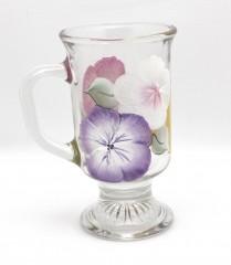 Irish hibiscus single purple white