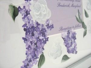 Rose and lilac bottom corner