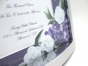 Rose and lilac purple corner