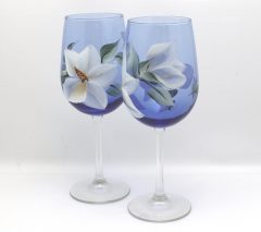 Cobalt magnolia pair