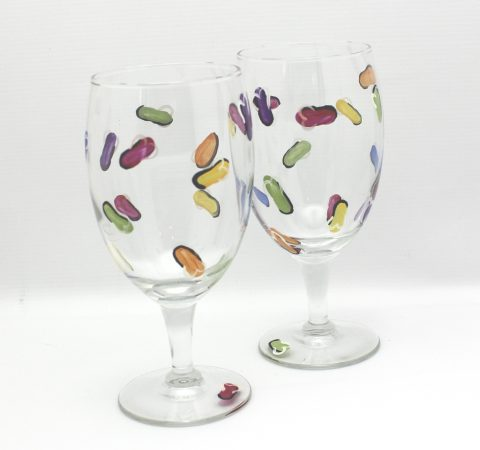 hand painted flip flop water glass