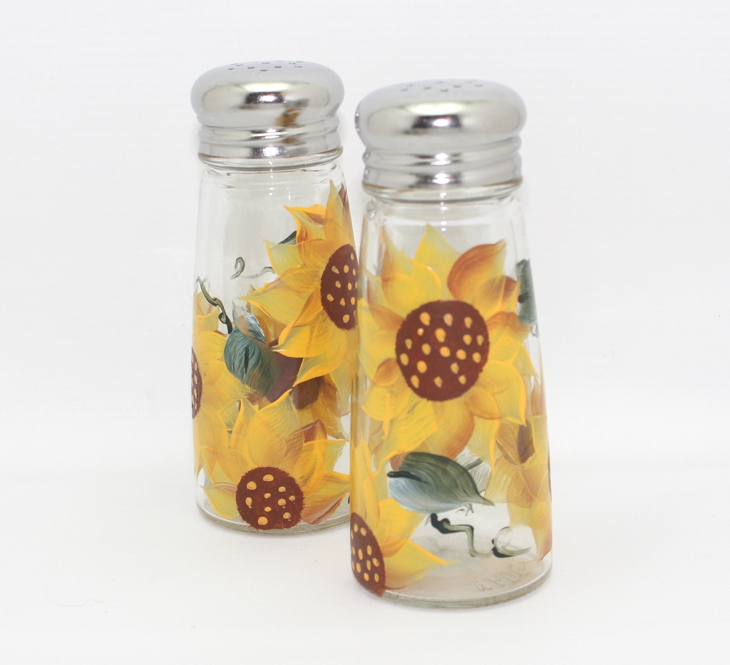 Hand Painted Sunflower Salt And Pepper Shakers Makin The