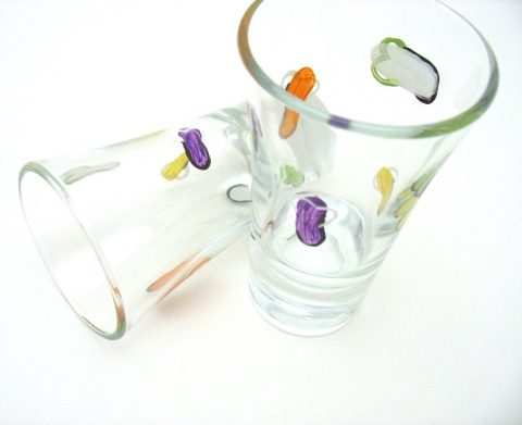 summer flip flop shot glass hand painted