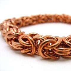 Byzantine chunky copper on white square