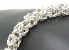 Sterling Silver Byzantine Chainmaille Bracelet
