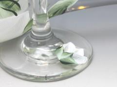 custom wedding toasting glass set